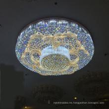 Unique Design 2018 Crystal Chandelier Lighting, Luminaria de techo, iluminación de cristal led