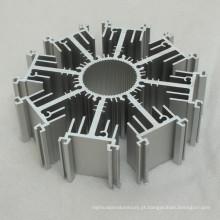 Perfil de alumínio personalizado para dissipador de calor