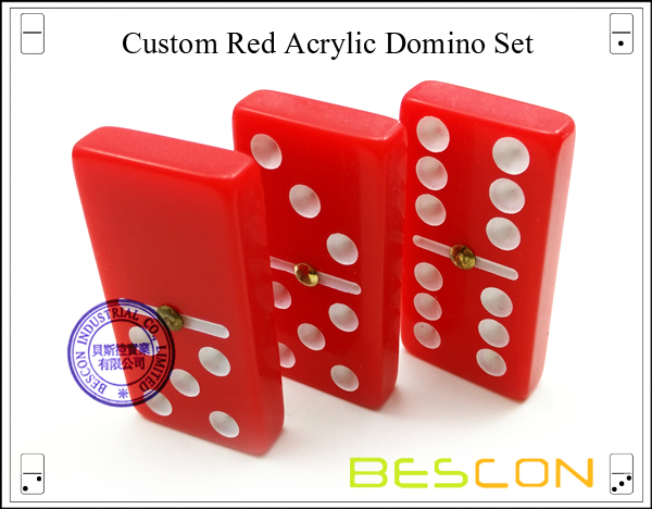 Red Acrylic Domino Set-5