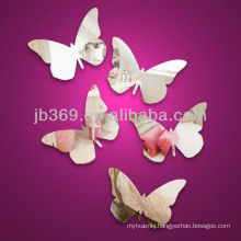 butterfly design indoor decorative arcylic mirror