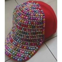 Velcro cierre gorra nueva primavera 2014 moda hip-hop Punk Snapback casquillo diamante colorido hombres de las mujeres