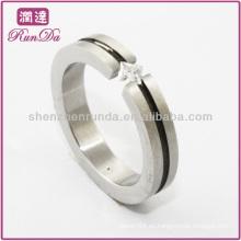 Anillo caliente del diamante de los anillos de acero de la venta