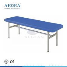 AG-ECC04 medical stainless steel economic patient platform lying treatment exam beds