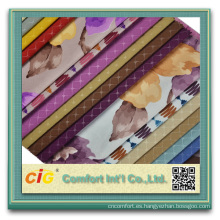Súper suave tela de terciopelo de impresión de tela del sofá