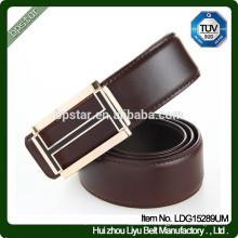 New Fashion Design Formal en cuir véritable en métal Boucle automatique en boucle pour hommes d'affaires / cintos de cuir en cuir pour homme