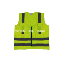 high quality reflective safety vest with pockets