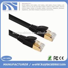 Высокоскоростная плоская сеть CAT 7 7A Ethernet 10Gbps интернет-маршрутизатор LAN FLAT SFTP Золотой кабель 1M, 2M, 3M, 5M, 10M, 20M, 30M, 50M, 100M