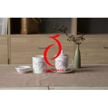 Tinta china pintada a mano El té real de cerámica de la alta calidad fija el hueso China para la mejor venta