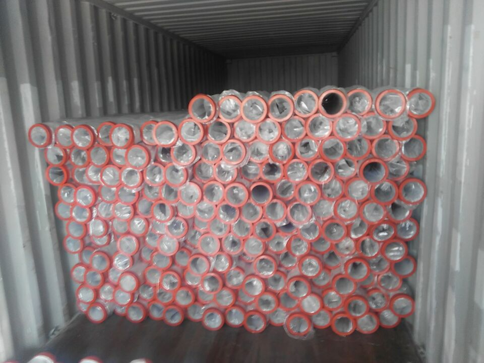 concrete pump parts container loading