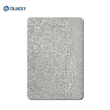 A3 / A4 / A6 Embossed Stainless Steel Plate For PVC Card Laminate