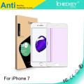 ¡Proteja la película de pantalla de los ojos! Vidrio templado de borde suave con fibra suave de fibra de carbono anti-azul para iphone 5/6/7 / 7plus