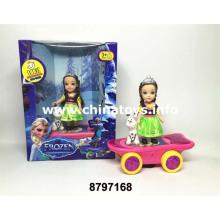 B / O Girl Doll Toy Scooter con luz y música (8797168)