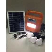 Solar-LED-Heimbeleuchtungssystem mit FM-Radio und SD-Karten-Player