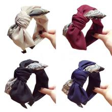 Wholesale Korean cloth handmade flower headband women's hair accessories  bow hair band