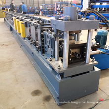 Metal upright steel frame storage rack roll forming machine for purline with on line hole punching
