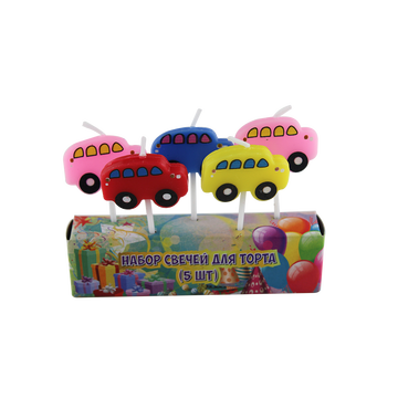 Cars Birthday Candles for Kids Feestje