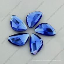 Sapphier Blue Glass Stone Flat Espalda