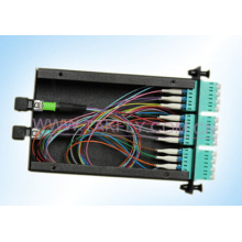 OEM MPO Panel LC Quad 12/24port Fiber Optic MPO/MTP Cassette Module