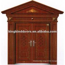 Copper Paint Double Villa Security Door With Window JKD-9022 From China Top 10 Brand Door