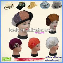 A loja nova dos chapéus da neve dos chapéus da senhora 100% da lã da promoção 100%, LSW01