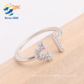 Adjustable size silver Libra ring jewelry for girl