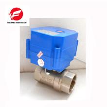 Válvula de control de flujo eléctrica de latón CWX-60p 5V 12V DN20 DN15