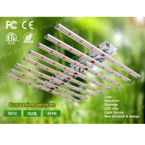 Planta de interior Phlizon 600w Led Grow Light Bar
