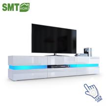 European style living room furniture led tv cabinet design