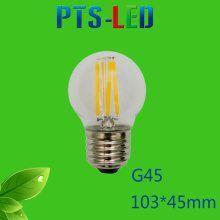 G45 2W 4W 210-400lm Dimmable LED Filament Bulb