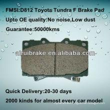 D812 ceramic Toyota Tundra brake pad