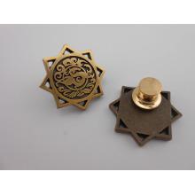 Custom Antique Gold Plated Metal Badge (GZHY-KA-026)