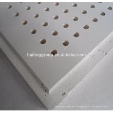 Tablero de yeso perforado para techo de 12 mm