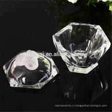 кристаллическая коробка ювелирных изделий с кристалл розовое,повернуть узор Хрустальный кувшин
