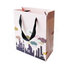 Luxury Small Paper Bag Machine Branded Custom Printed Paper Bag White Matt Laminated Made Art Shopping Paper Bags
