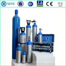 Cylindre personnel d'oxygène en aluminium sans couture à haute pression 2014 (LWH180-10-15)