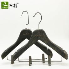 luxury mens black ash wooden coat hanger