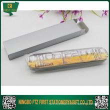 Сувенирная ручная упаковка Металлическая оловянная коробка для одноразового или двухместного пера
