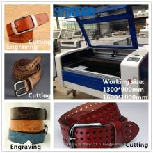 Machine à découpage et gravure laser Laser Syngood 1300 * 900mm 1600 * 1000mm pour ceinture en cuir