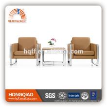 S-25 king size canapé chaise en acier inoxydable fram canapé en chia