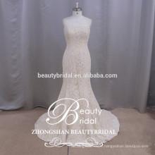 Belle robe de mariée à perles lourdes Robe de soirée courte robe de mariée