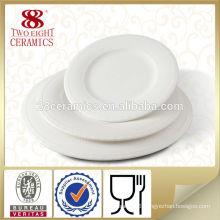 New bone china ceramic flat white porcelain cake serving plate 10 inch