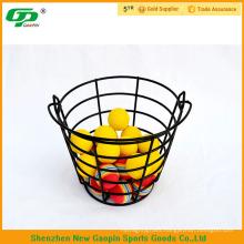 Black steel golf ball basket