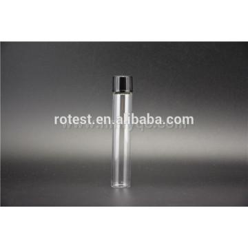 flat bottom glass test tube with screw cap