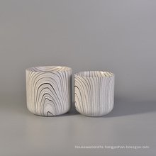 Black and White Ceramic Candle Container Wholesale