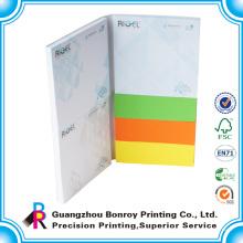 2015 Aduana adhesiva promocional diferente papel coloreado memo de almohadilla de impresión