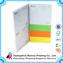 2015 Custom Sticky Promotional Different Colored Paper Memo Pad Printing