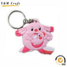 Porte-clé en PVC souple animal pour le marché de détail Ym1122