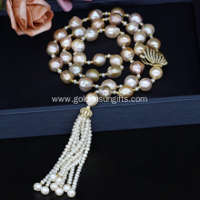 Upmarket Fresh Water Pearl Necklace with Tassel