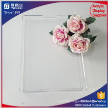 Best Selling Clear Acrylic Serving Tray Donut Holder with Handle