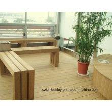 Madeira de alta qualidade composta de plástico WPC paisagem mesas e cadeiras